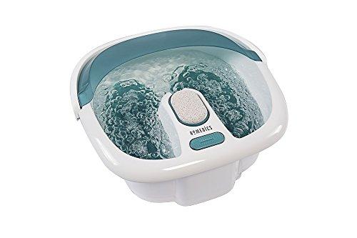 HoMedics Bubble Spa Elite Footbath, 2-in-1 removable pedicure center, Toe-touch control, Easy tote...