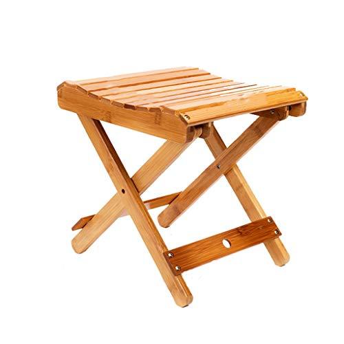 GXC GXCNINIO GXC Klappstühle Aus Bambus, Kreative Gebogene Multifunktions-Gartenstühle for Den Haushalt, Aufgerüstet Mit Ergonomischer Hohlraumlüftung Design-Hardware Feste Tragbare Sitzfläche