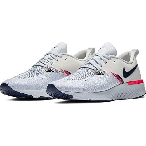 Nike Damen Odyssey React Flyknit 2 Premium Laufschuhe, Mehrfarbig (White/Blue Void-Hyper PINK), 38 EU