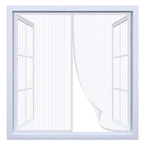 Mosquitera Ventana Magnetica, Mosquitera Para La Ventana, Cortina de Ventana para Prevenir Mosquitos y Insectos, Se cierra automáticamente es fácil de instalar - Blanco (27x53inch)