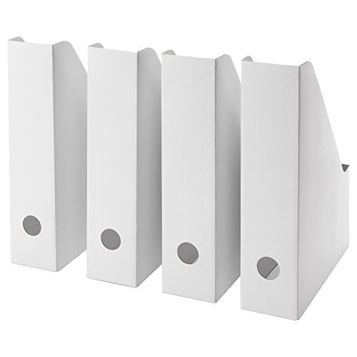 Ikea White Magazine FLUNS File Holder Document Organizer Paper Book Storage Office Desk Organizer By Lizzy Outlet (Pack Of 8)