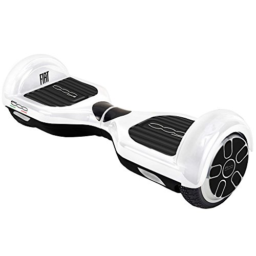 FIAT500 F500-H65W/Wh Hoverboard, Adultos Unisex, Blanco,