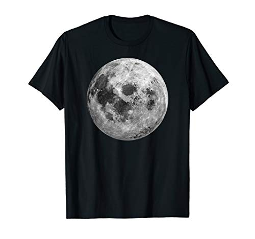 Cool Full Moon T-Shirt Space Science Gift 50th Anniversary