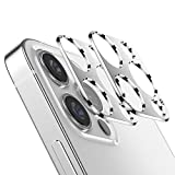 VIWIEU Camera Lens Protector Metal Compatible with iPhone 12 Pro 5G 6.1 inch, 2PCS Silver Aluminum Alloy Protective Ring Circle Lens Cover for iPhone 12 Pro, Anti-scratch, Case Friendly, Easy Apply