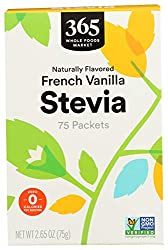 365 by Whole Foods Market, Stevia, French Vanilla  (75 Packets), 2.65 Ounce