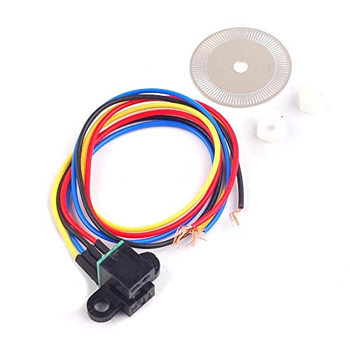 iHaospace Photoelectric Speed Sensor Encoder Code Disc Disk Code Wheel for Freescale Smart car 5v Laser Cutting Quadrature Signal Output