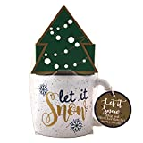 Tofe Gifts, Under The Mistletoe - Mug and Hot Chocolate Set Tofe Gifts, Christmas and Holiday Gifts, Cozy Gifts, Includes Hot Chocolate and Mug (White)