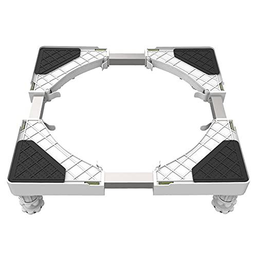 GEREP Base Lavatrice Regolabile Supporto Frigorifero, Supporto Universale Mobile per Lavatrice, Altezza Regolabile 9-12cm / 4 piedi / 42 / 62cm/16.5/24.4cm