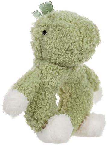 Apricot Lamb Baby Dinosaur Soft Ring Rattle Toy Plush Stuffed Animal for Newborn Soft Hand Grip product image