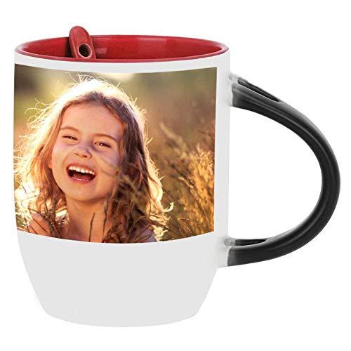 MEGAUK Zaubertasse zum Bedrucken - Kaffeebecher mit Text und Bild Foto - Fototasse zum Selbstgestalten - Farbwechsel Zauberbecher - Custom Coffee Mug Cup