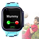 WENSUNNIE 4G Cellular Universal Smart Watch Sport Bracelet Phone with GPS Tracker - Combines Camera Video Voice and Wi-Fi Calling & Messaging Network- IP67 Waterproof & SOS (Blue)