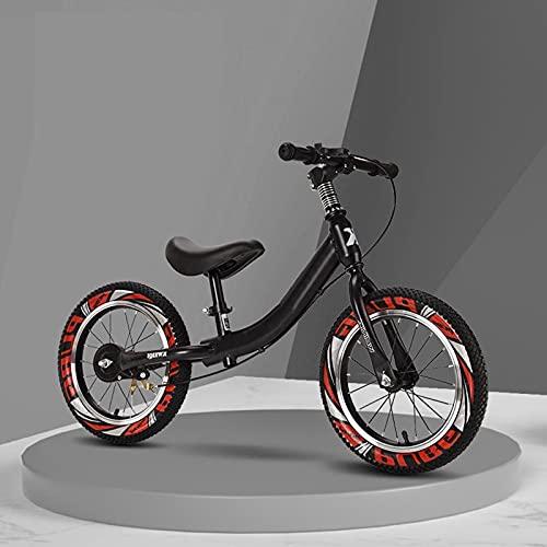 Bicicleta Sin Pedales Equilibrio 4,5,6,7,8,9 Años Bicicleta de Equilibrio con Freno, 14 Pulgadas / 16 Pulgadas Bicicletas con Marco de Acero, Bicicleta Sin Pedales para Niños y Niñas Para Principiante