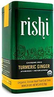 Rishi Tea Turmeric Ginger Loose Leaf Herbal Tea | Immune Support, USDA Certified Organic, Caffeine-Free, Ayurvedic, Energy...