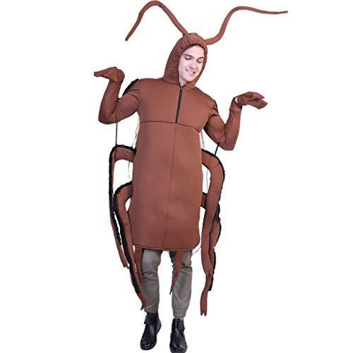 Qiran Halloween disfraz especial adulto Halloween etapa disfraz cuchara cucaracha Expresión Cosplay ropa Props atractiva Tops Funny Joke regalo traje blous
