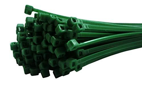 Fix&Easy bridas para cables 2,5x100mm verde 300 pieza para protección de la privacidad hojas valla para Balcón Jardín terrazas