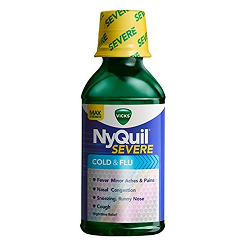 Vicks NyQuil Cough Cold and Flu Nighttime Relief (Severe Original, 3 PK)