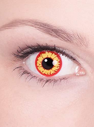 Ork Troll Uruk Monster Kontaktlinsen / Monatslinsen - Motivlinsen ohne Sehstärke - Unisex - Erwachsene - ideal für Halloween, Karneval, Motto- und Horror-Party