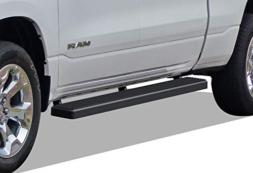 APS iBoard Running Boards (Nerf Bars Side Steps Step Bars) Compatible with 2019-2020 Ram 1500 Crew Cab Pickup 4Dr (Will Not Fit 2018 Previous Generation Build in 2019) (Black Powder Coated 5 inches)
