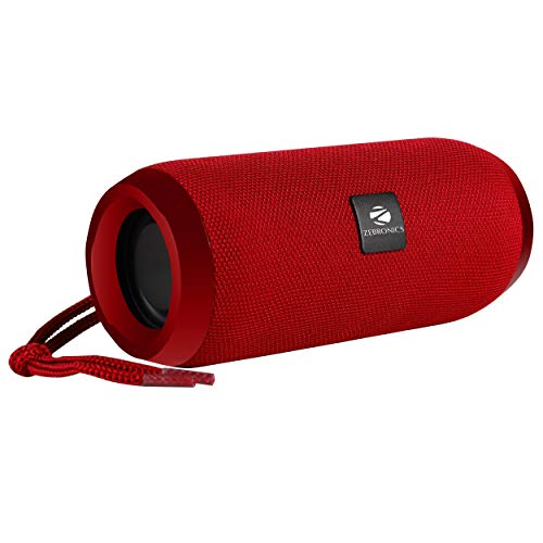 Zebronics Zeb-Action Portable BT Speaker with TWS Function, USB,mSD, AUX, FM, Mic & Fabric Finish (Red)