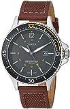 Timex Men's TW4B15100 Expedition Ranger Solar Brown/Dark Green Leather Strap Watch