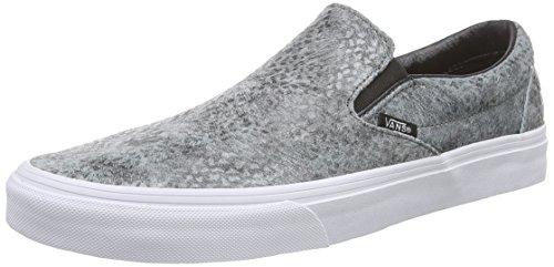 Vans U Classic Slip-on Pebble Snake, Unisex-Erwachsene Sneakers, Grau ((Pebble Snake) gray/black), 40