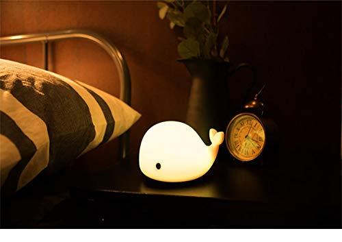 Dolphin USB Veilleuse Silicone Smart Creative Pat Ameublement Coloré Atmosphère LED Petite Lampe De Table