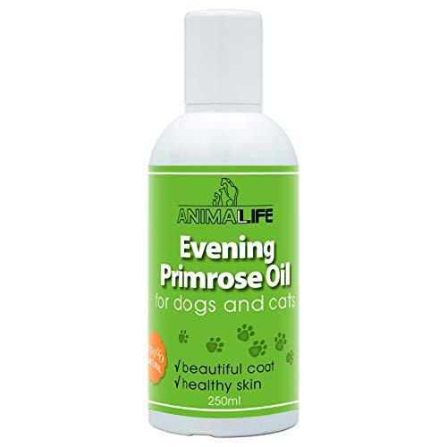 Aceite de Onagra para Perros & Gatos 250ml - 100% Natural - Vitaminas, Minerales, Omega 3 6 9 - Suplementos Alimenticios para Mascotas - Promueve un Pelo y Piel Saludables - Evening primrose oil