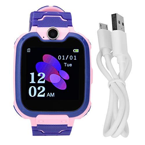 Socobeta Multifunktionale elektronische Telefon-Uhr mit Beleuchtung, tragbarer Wecker, langlebig für Kinder (Pink)