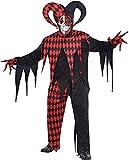 Adult Krazed Jester Costume Plus XXL Size, Black 844206