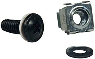 Tripp Lite SRCAGENUTS Rack Enclosure Cabinet Square Hole Hardware Kit Screws, Washers
