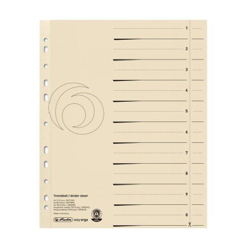Herlitz 5970009 Trenn Blatt A4 chamois 50er Packung