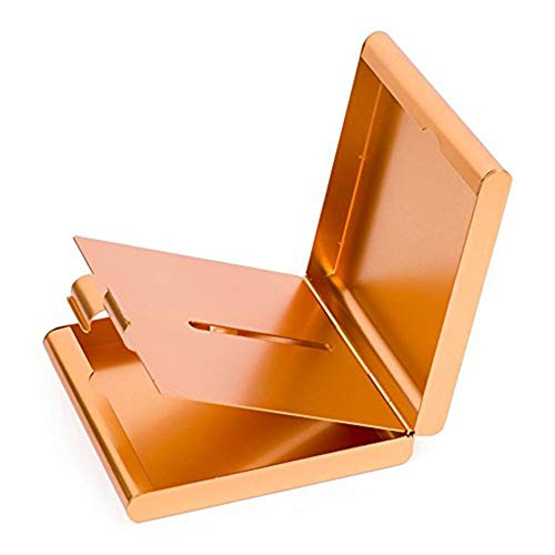 ToBeIT Aluminium Etui für Zigaretten - Metall Zigarettenbox/Zigarettenetui für 20 Stürke Zigaretten Gold