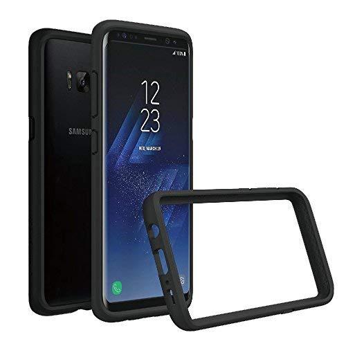 RhinoShield Coque Bumper Compatible avec Samsung [Galaxy S8+ (Plus)] | CrashGuard - Housse Fine avec Technologie Absorption des Chocs - Noir