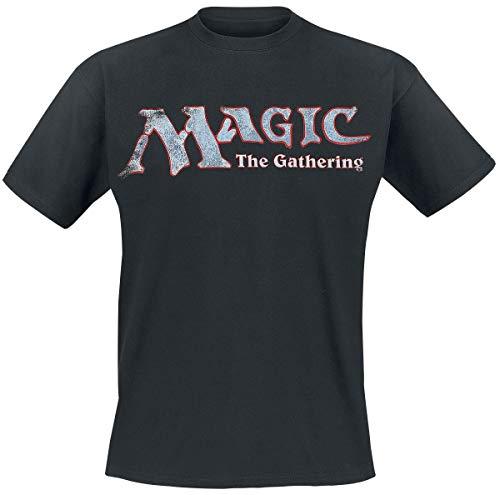 Magic: The Gathering Logo Hombre Camiseta Negro XL, 100% algodón, Regular