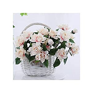 Misscany 1 Bouquet 7s Romantic Artificial Flower Gardenia DIY Silk Flower Fake Flowers for Party Home Wedding Decoration,Pink
