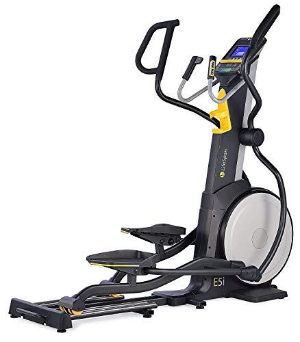 Lifespan Fitness E5i+ professionell Crosstrainer, LCD-Display, 20 Ständern, Tablet-Halter, flüssiger Stil, Trainingscomputer, Größe 190x91x175 cm, max. 182 kg