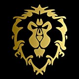 World of Warcraft Alliance [Pick Color] Vinyl Transfer Sticker Decal for Laptop/Car/Truck/Window/Bumper (6in x 4.7in, Gold)