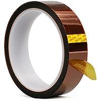 Cinta Kapton Cinta adhesiva resistente a la temperatura Cinta Kapton Cinta adhesiva de poliimida 33M Longitud para impresora 3D Alta enmascaramiento, soldadura, recubrimiento en polvo (0.5cm X 33M)