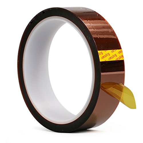 Kapton Tape Temperature Heat Resistant Kapton Tape Polyimide Film Adhesive Tape 33M Length for 3D Printer High Masking, Soldering, Powder Coating, Sublimation and Insulating Circuit Boards (5cm X 33M)