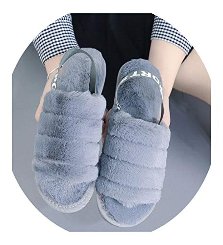 Unisex Bootie Slippers Winter Flats Leather Ankle Boots Indoor Outdoor Slippers