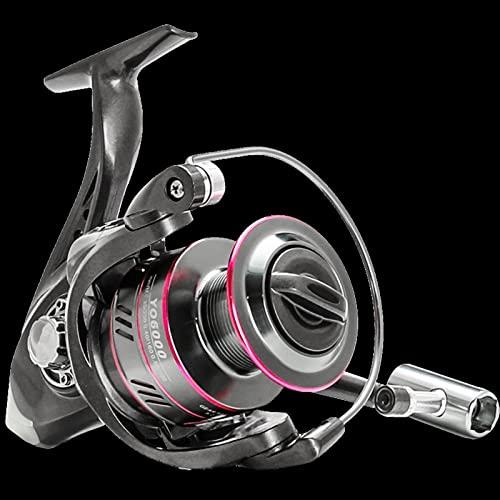 KSHOLK Carretes de Pesca,Carrete Spinning Carrete de Pesca Spinning 1000-7000 Series Metal Spool Spinning Rueda for Pesca de mar Pesca de Carpa Carrete de caña de Pescar