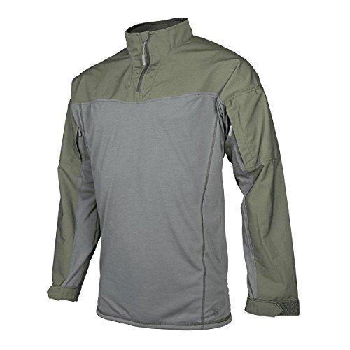 TRU-SPEC Men's Responder Shirt, 24-7 P/C R/S 1/4 Zip, Ranger Green, X-Large Regular