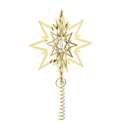 Georg Jensen Weihnachtsbaumstern, vergoldet, groß
