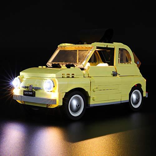 BRIKSMAX Led Beleuchtungsset für Lego FIAT 500,Kompatibel Mit Lego 10271 Bausteinen Modell - Ohne Lego Set