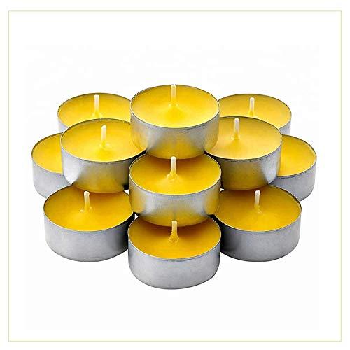 Palucart Lot de 50 bougies chauffe-plat avec cire anti-moustiques pour intérieur ou extérieur, jardin