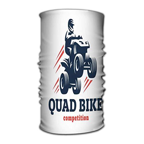 Bandas para la Cabeza Turbante elástico Envoltura de la Cabeza Estilo de conformidad Banda para el Cabello Quad Bike Competición Diseño de Logotipo Fondo Blanco Dibujo