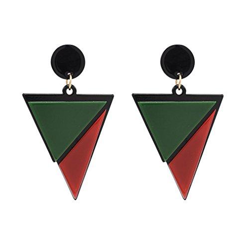 YAZILIND Mujeres Gota Cuelga Pendientes de Bohemia Triángulo Colgante Stud Pendientes Declaración Étnica Vintage Retro Joyería Antigua