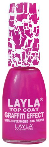 Layla Cosmetics Top Coat Graffiti Nagellack, pink fluo, 1er pack (1 x 0.01 L)