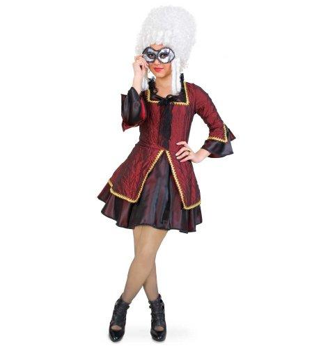 FASCHING 10616 Kostüm Madam Paris, Kleid Pariserin Venezianerin: Größe: 34