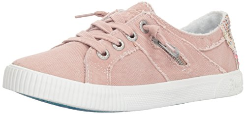 Blowfish Malibu Women's Fruit Sneaker, Dirty Pink Smoked Canvas, 7 M US